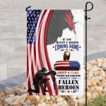 God respect to our fallen fallen heroes all over print flag