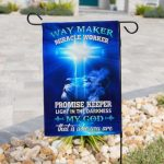 God way maker miracle worker all over print flag