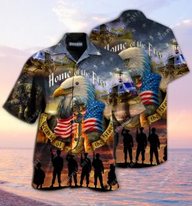 remember the days veteran home of the free all over printed hawaiian shirt