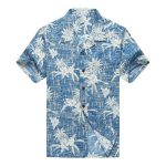 tropical flower and fruit all over printed hawaiian shirt