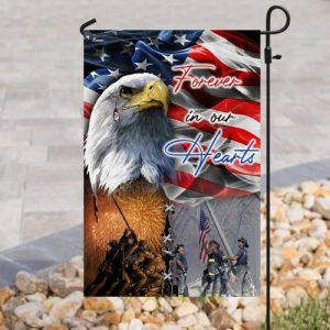 usa veteran forever in our hearts all over print flag