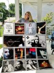 Marilyn manson albums cover all over print quilt
