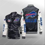 ffalo bills all over print leather bomber jacket 1