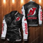 New jersey devils all over print leather bomber jacket 1