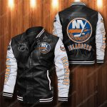 New york islanders all over print leather bomber jacket 1