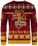 The gryffindor harry potter full print ugly christmas sweater 1