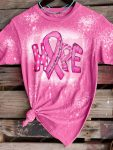 Breast cancer awareness all things through Christ bleached shirt 1