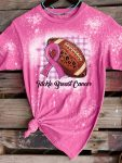 Breast cancer awareness tackle breast cancer bleached shirt 1