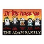 Custom for family in this house we love halloween doormat 1