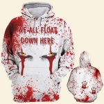 Halloween blood pennywise we all float down here shirt 1