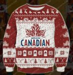 Molson canadian beer ugly christmas sweater