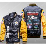 Pittsburgh steelers 6 times super bowl leather bomber jacket 1