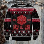 The dungeons and dragons game ugly christmas sweater
