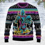 This is the way star wars the mandalorian ugly christmas sweater
